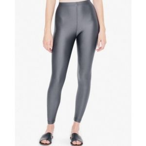 American Apparel shiny greyisj silver leggings